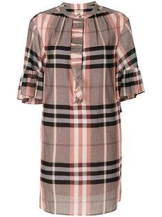клетчатое платье-шифт Burberry