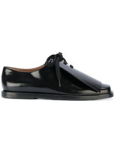 туфли со шнуровкой и оборками  Marni