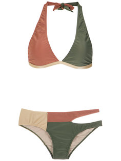 cut out velvet bikini set Adriana Degreas