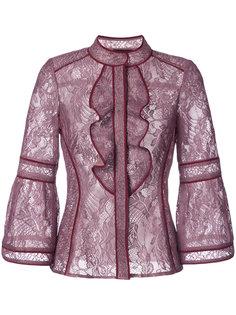 кружевная блузка с оборками  J. Mendel