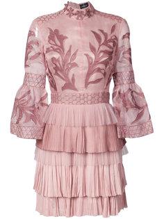 платье мини с вышивкой  J. Mendel
