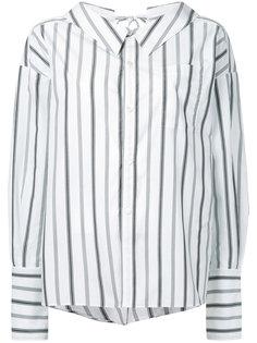 полосатая рубашка с завязками на спине G.V.G.V.