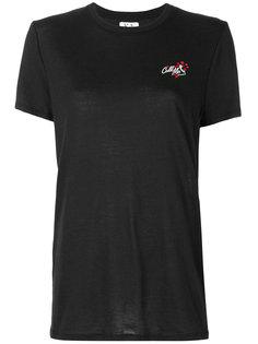 футболка с вышивкой логотипа Zoe Karssen