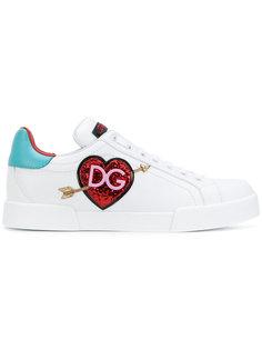 кроссовки с логотипом в сердце Dolce & Gabbana