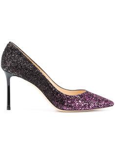 туфли-лодочки с блестками и градиентным эффектом Romy 85 Jimmy Choo