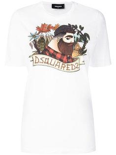 футболка с принтом мужчины Dsquared2