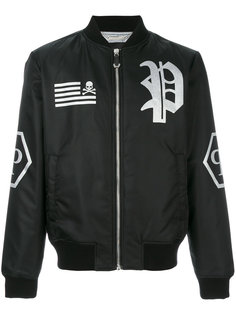 куртка-бомбер с нашивкой логотипа Philipp Plein
