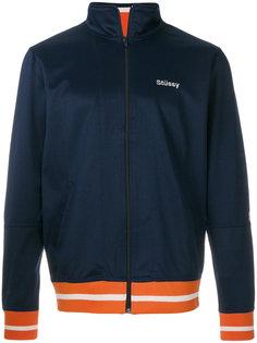 спортивная куртка с контрастным подолом Stussy