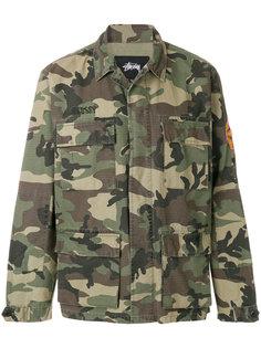 приталенная куртка с камуфляжным принтом Stussy