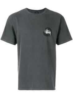 футболка с принтом-логотипом Stussy