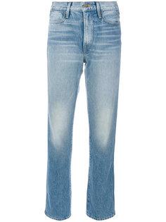 укороченные выбеленные джинсы Frame Denim