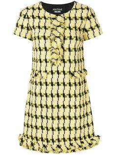 твидовое платье с короткими рукавами Boutique Moschino