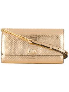 сумка с эффектом змеиной кожи Michael Michael Kors