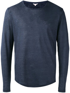 однотонная футболка с длинными рукавами Orlebar Brown