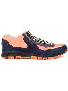 панельные кроссовки на шнуровке Lanvin
