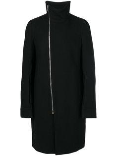 пальто со смещенной молнией Rick Owens