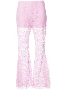 расклешенные кружевные брюки Givenchy