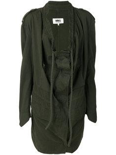 куртка в стиле милитари с драпировкой  Mm6 Maison Margiela