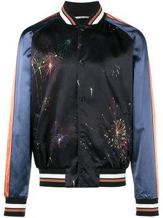 куртка-бомбер с фейерверками Valentino