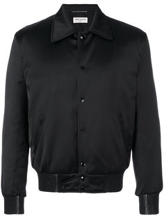куртка-бомбер с принтом Saint Laurent