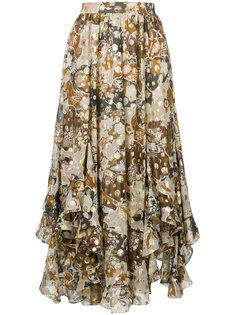 воздушная юбка с асимметричным подолом Chloé