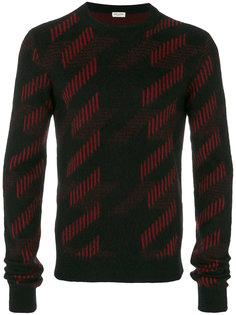 свитер с геометрическим узором Saint Laurent