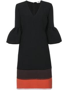 платье с контрастными панелями Fendi