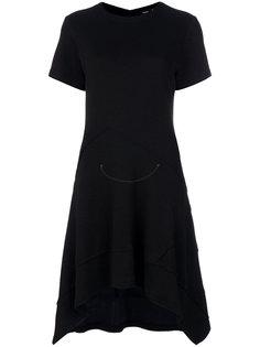 платье с асимметричным подолом и короткими рукавами Proenza Schouler