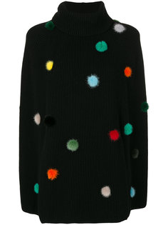 кашемировый свитер с помпонами Fendi