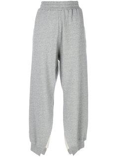 трикотажные брюки с разрезами  Mm6 Maison Margiela