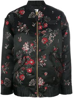 куртка-бомбер с цветочной отделкой  Mm6 Maison Margiela