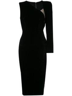 бархатное платье Phoenix Alex Perry