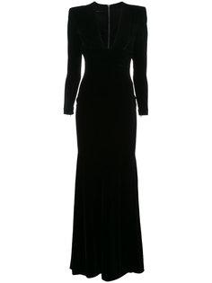 бархатное вечернее платье Alex Alex Perry