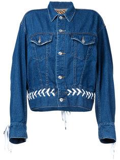 джинсовая куртка с декоративной шнуровкой G.V.G.V.