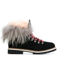 ботинки на шнуровке с меховой отделкой Mr & Mrs Italy