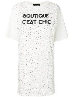 платье-футболка с заклепками Boutique Moschino