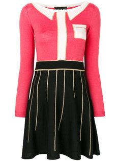 приталенное платье в стиле колор-блок Boutique Moschino