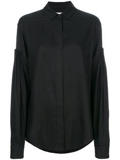 рубашка с опущенной линией плеча Saint Laurent