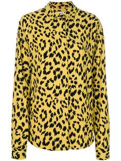 рубашка с леопардовым рисунком Saint Laurent