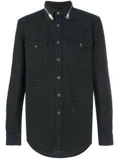 джинсовая рубашка с потертой отделкой Givenchy