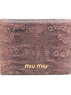 кошелек с эффектом кожи ящерицы Miu Miu