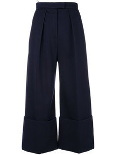 укороченные расклешенные брюки Delpozo