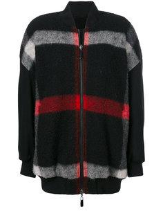 куртка-бомбер в клетку  Marcelo Burlon County Of Milan