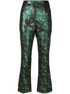 металлизированные брюки с жаккардовым узором Prada