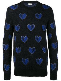 свитер в сердца Saint Laurent