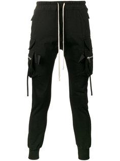 узкие спортивные брюки с боковыми карманами Rick Owens