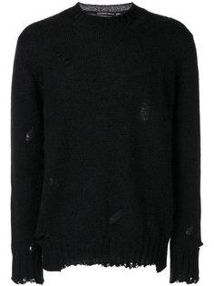 свитер с эффектом потертости Alexander McQueen