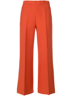 укороченные брюки со складками Fendi