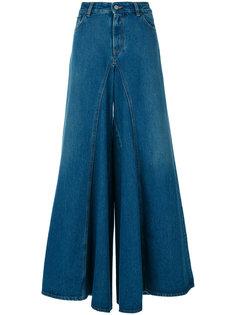 расклешенные джинсы с завышенной талией Mm6 Maison Margiela