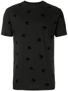 футболка с принятом ласточек McQ Alexander McQueen